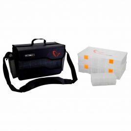 SAVAGE GEAR 6-Pro T doboz és táska szett L