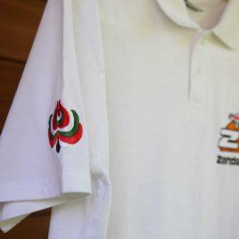 ZT galléros hímzett póló fehér