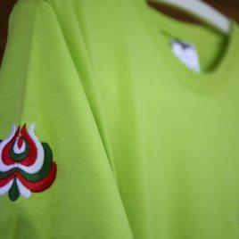 ZT környakas hímzett póló zöld