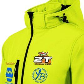 ZT softshell hímzett kabát Japan-LIME