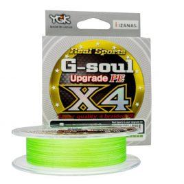 YGK G-soul X4 Upgrade PE – PE0,2 (~0,074mm) 150m 4 szálas fonott, fluo zöld szín
