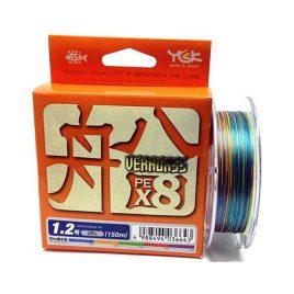YGK VERAGASS FUNE X8 – PE0,6 (~0,128mm) 150m 8 szálas fonott, 10m x 5 szín