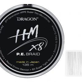 DRAGON HM X8 P.E. Braid White 135m 0.06mm 5.50kg