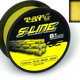 BLACK CAT S-Line Ø0,38mm 250m 40kg 88lbs sárga